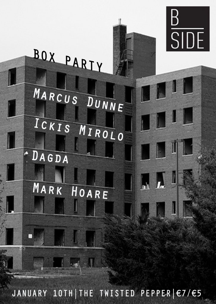 B-Side Box Party with Marcus Dunne - Flyer front