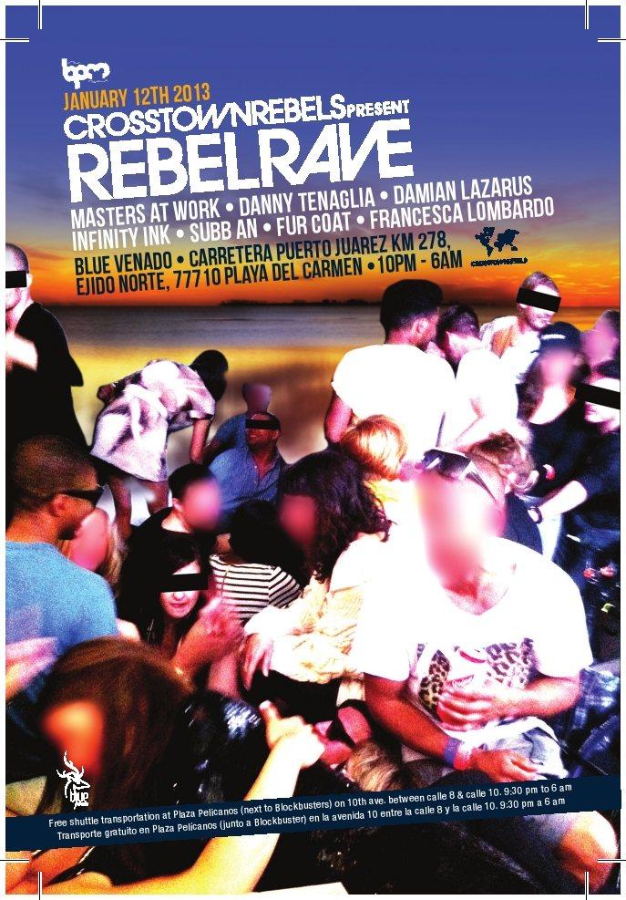 Rebel Rave - Flyer front