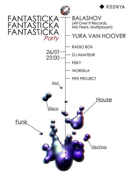 Fantasticka Party - Flyer front