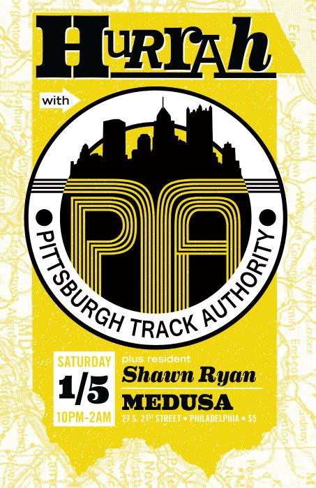 Hurrah with Pittsburgh Track Authority - Flyer front