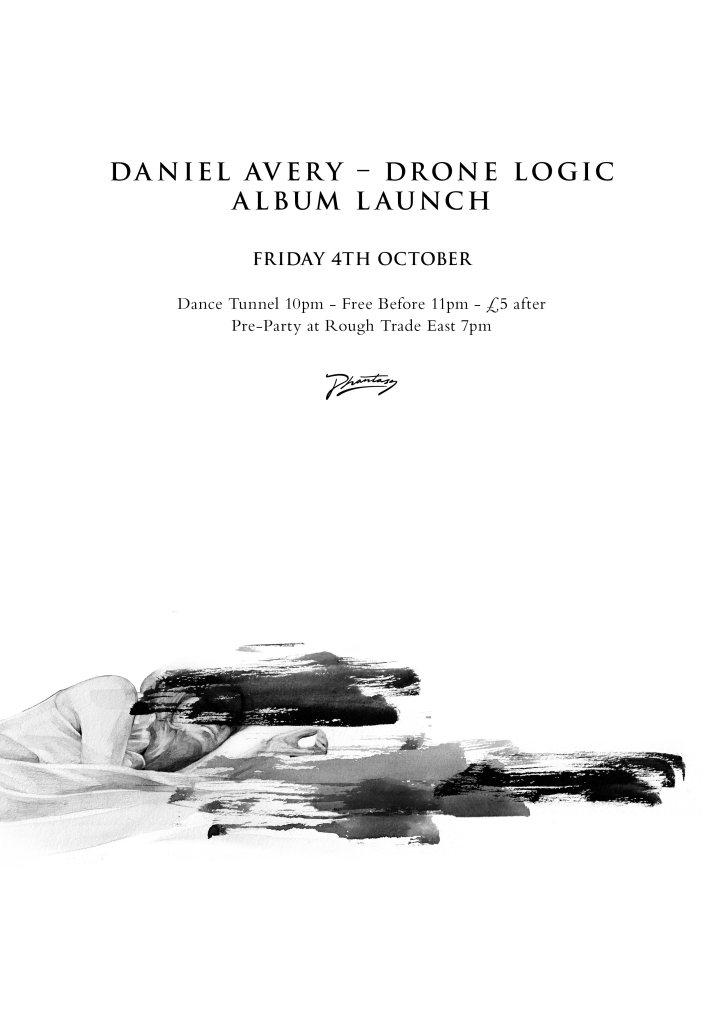 Daniel Avery Drone Logic Album Launch - Flyer front