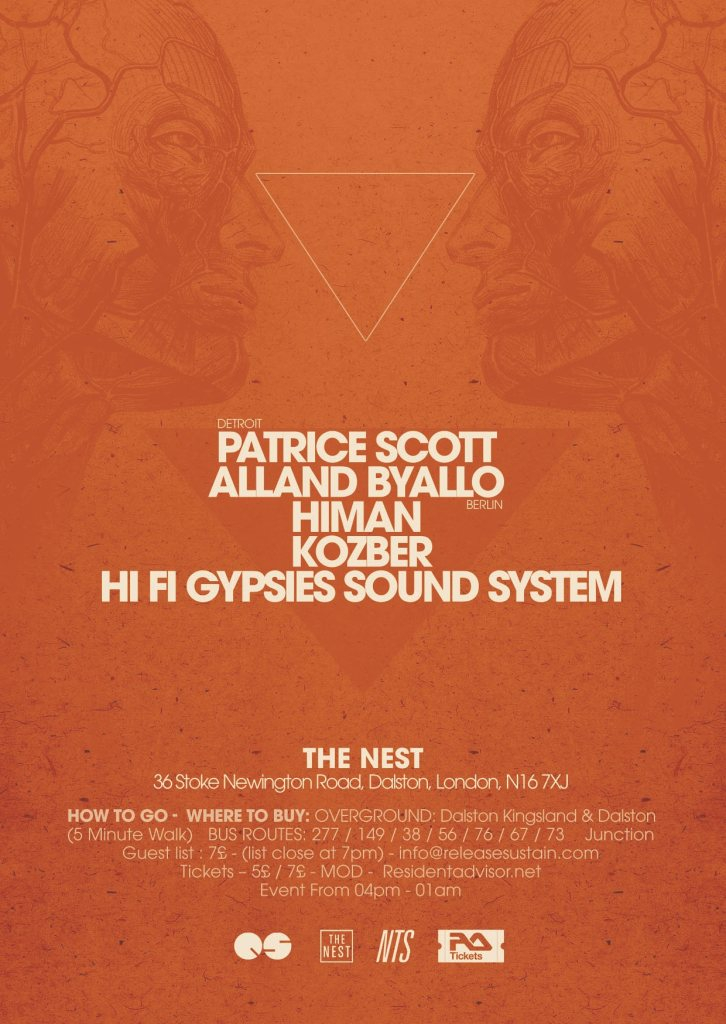Conclave - The Release/Sustain Showcase - Flyer back