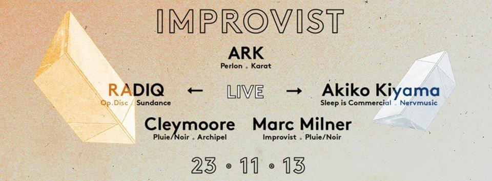 Improvist Boat with Ark, Radiq (Live) & Akiko Kiyama (Live) - Flyer front