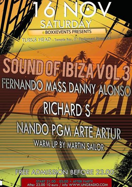 Sound of Ibiza - Flyer front