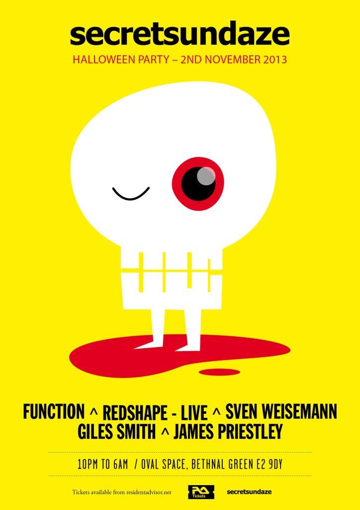 Secretsundaze Halloween Asylum Party with Function, Redshape & Sven Weisemann - Flyer back
