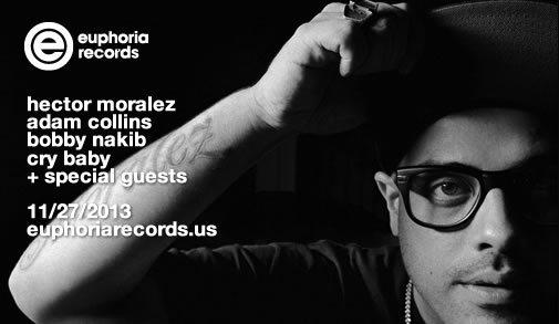 Hector Moralez NY Debut & Euphoria Records Birthday - Flyer front