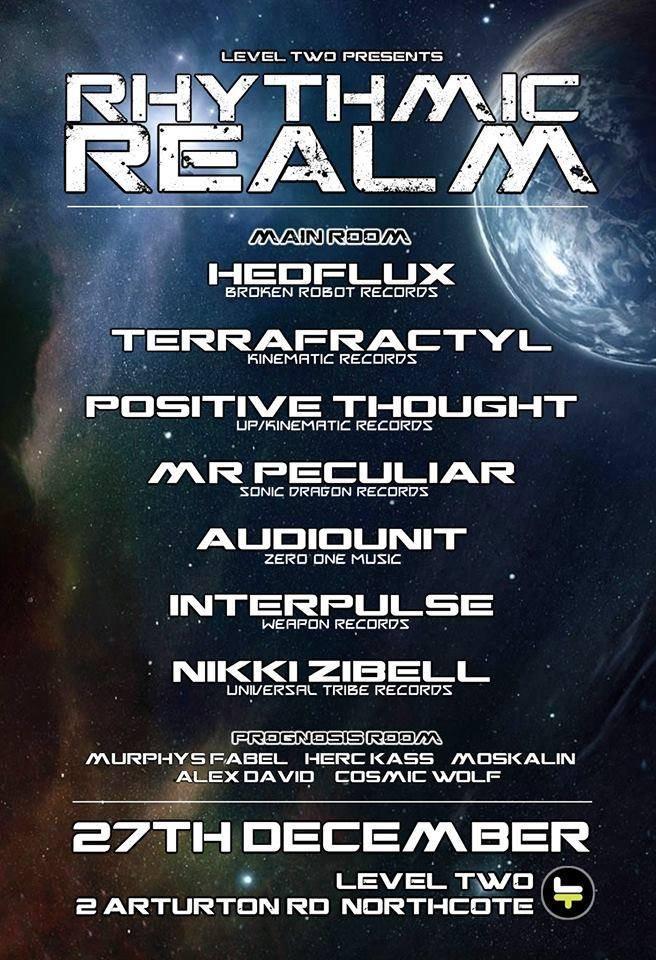 Rhythmic Realm Feat Headflux - Flyer front