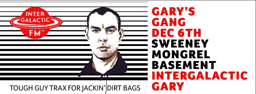 Gary's Gang - Intergalactic Gary - Flyer front