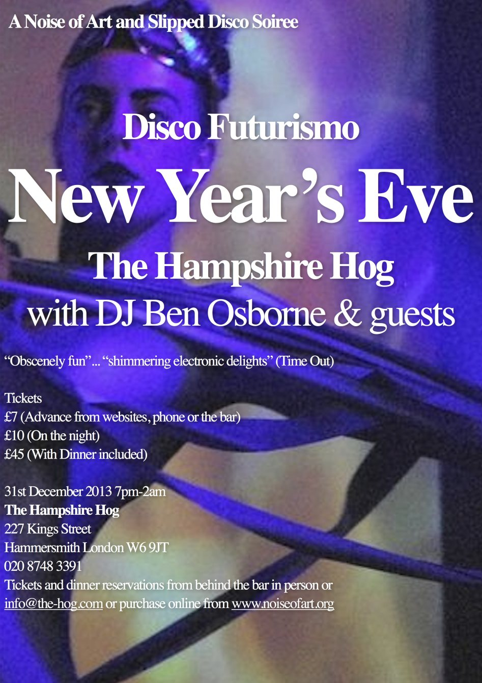 Noise of Art's Disco Futurismo New Year's Eve - Flyer front