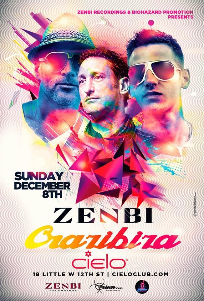 Zenbi Recordings & Biohazard Promos presents: Zenbi & Crazibiza - Flyer front