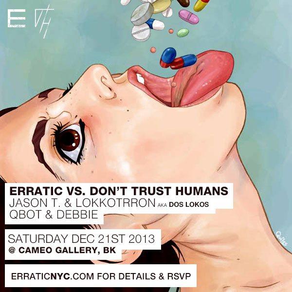 Erratic vs Don't Trust Humans - Flyer back