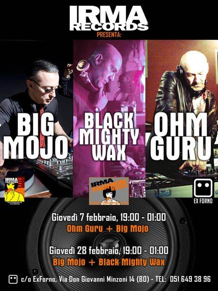 Big Mojo & Ohm Guru - Flyer front