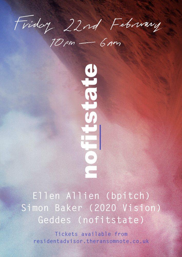 Nofitstate - Ellen Allien, Simon Baker, Geddes - Flyer front