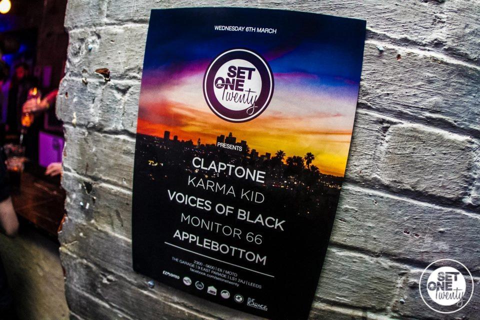 Set One Twenty: Claptone /Karma KID /Voices OF Black - Flyer front