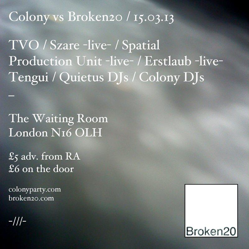 Colony vs Broken20 - Flyer front