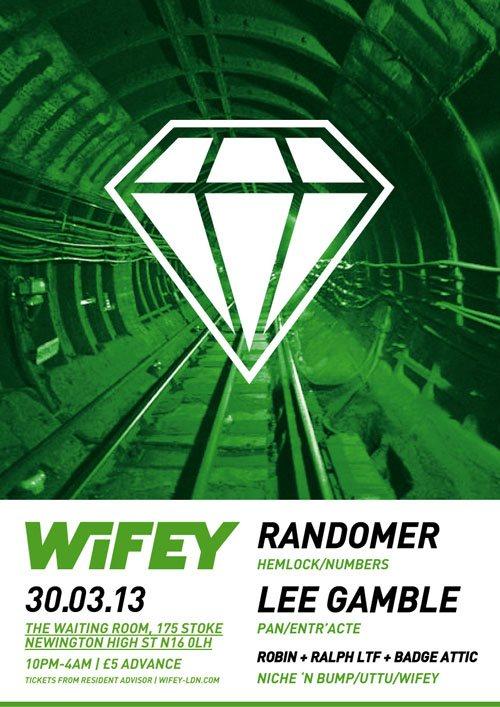 Wifey - Randomer & Lee Gamble - Flyer front