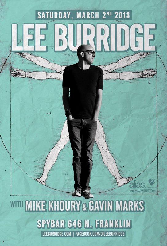 Lee Burridge - Flyer front