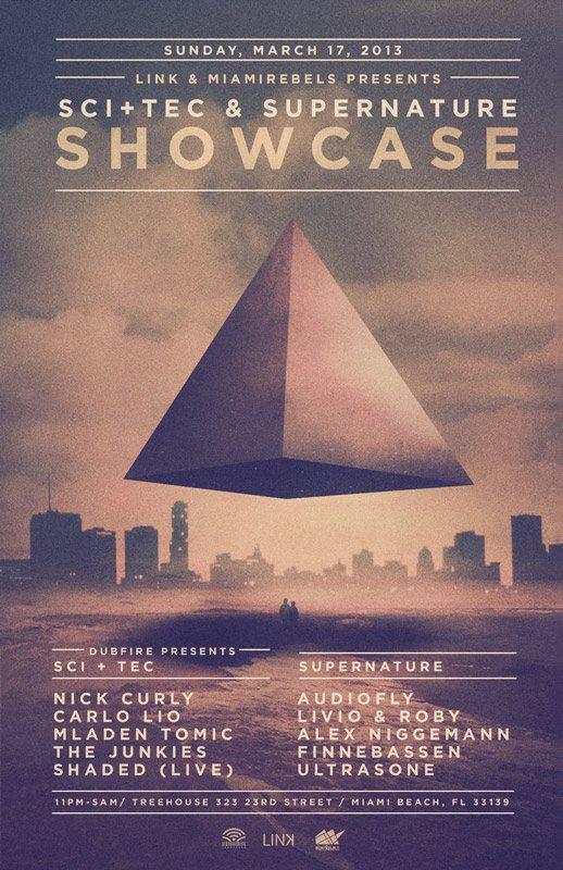SCI+TEC & Supernature - Flyer front