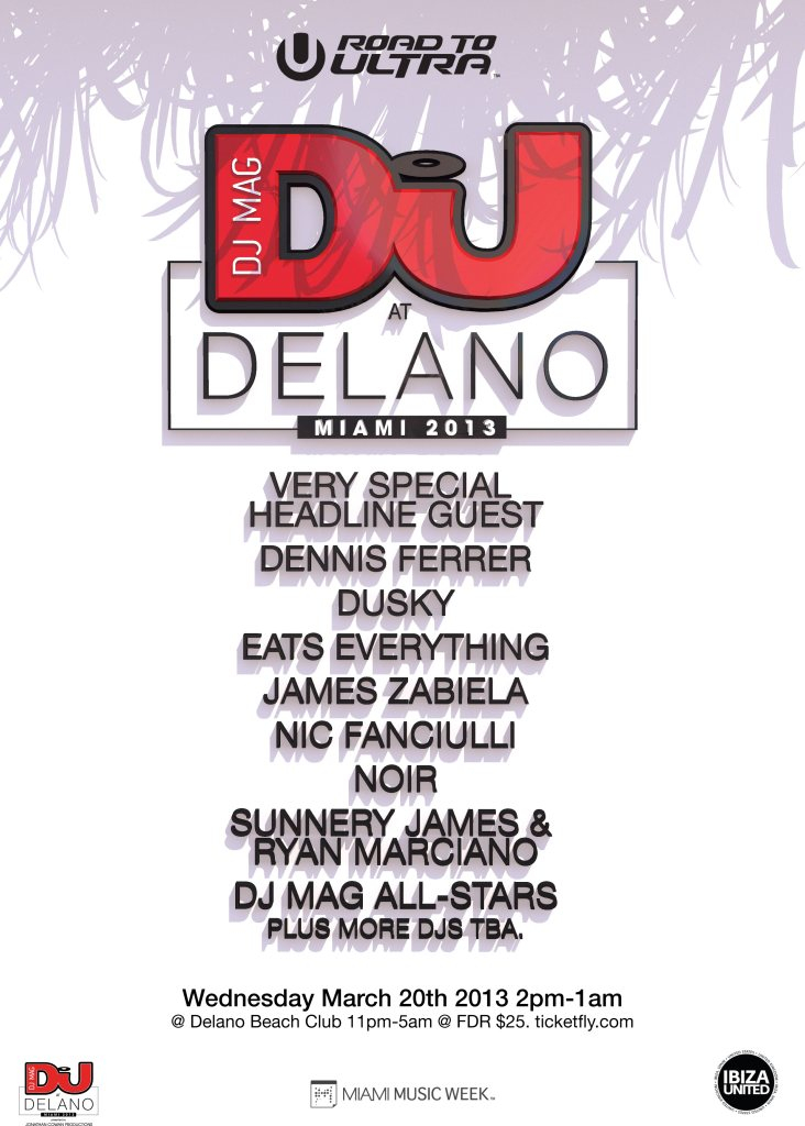 DJ Mag At Delano Opening Party - Flyer front