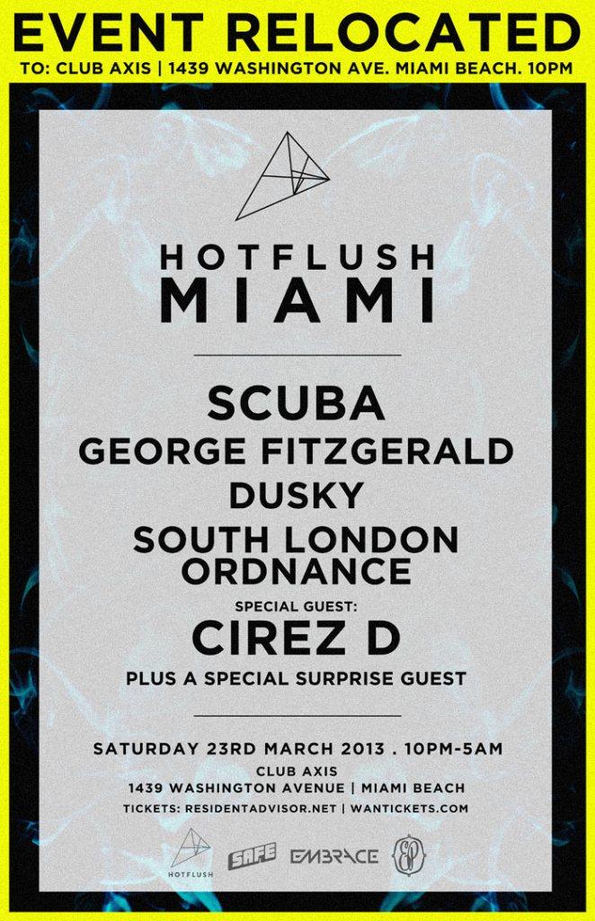Hotflush Miami - Flyer front