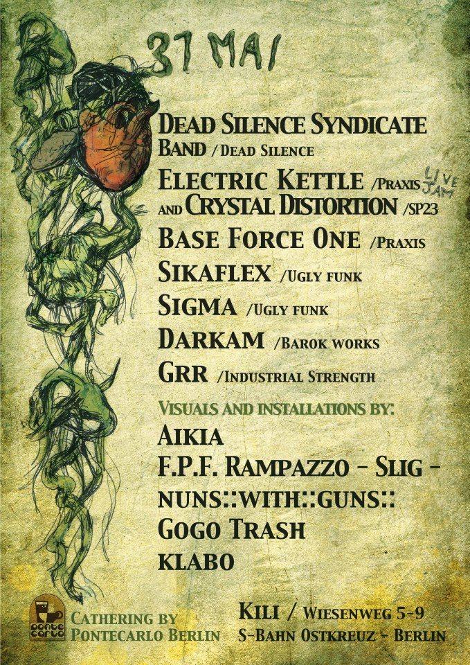 Dead Silence Syndicate - Flyer back