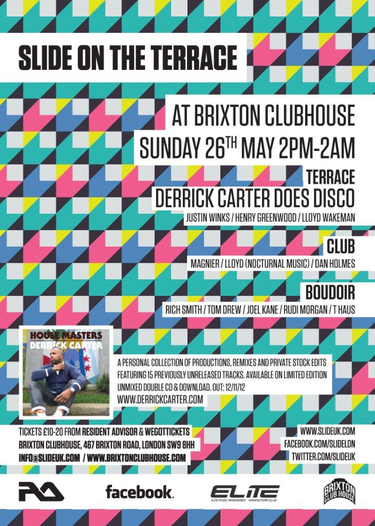 Slide On The Terrace - Derrick Carter Does Disco - Flyer back