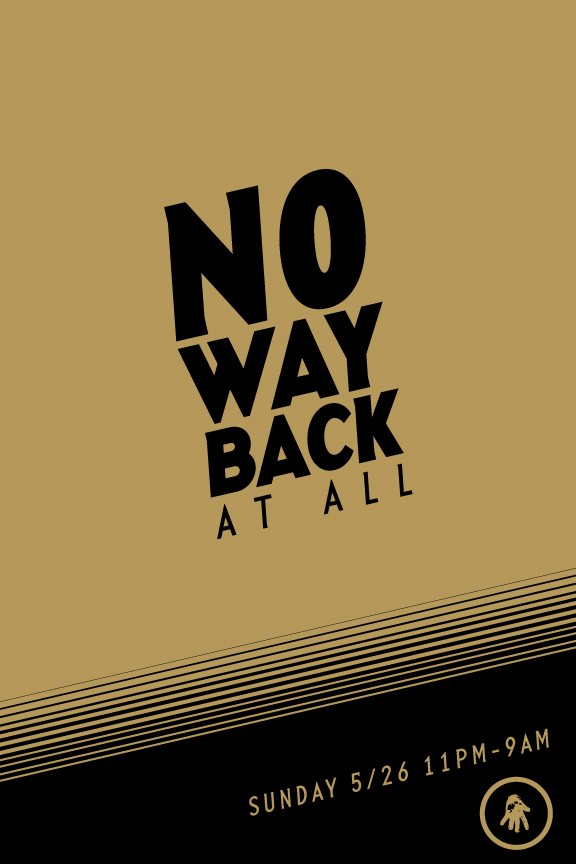 No Way Back at all - Flyer front