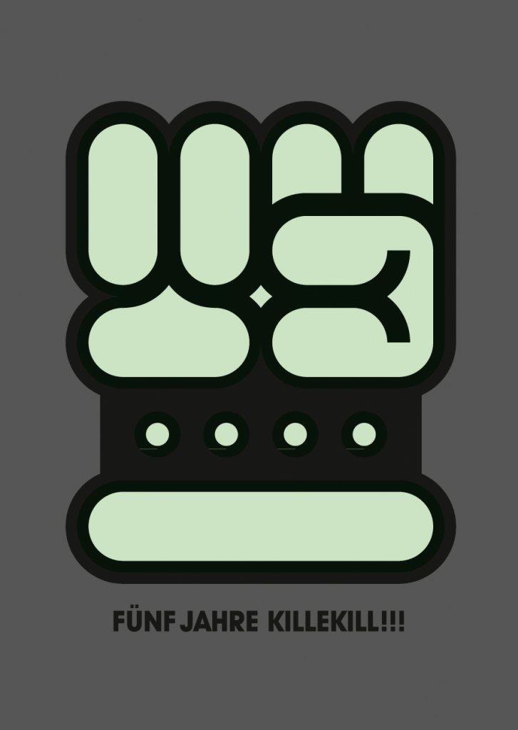 Killekill Overkill - 5 Jahre Killekill: Neil Landstrumm, Furfriend, Cynthia Stern, Alienata - Flyer front