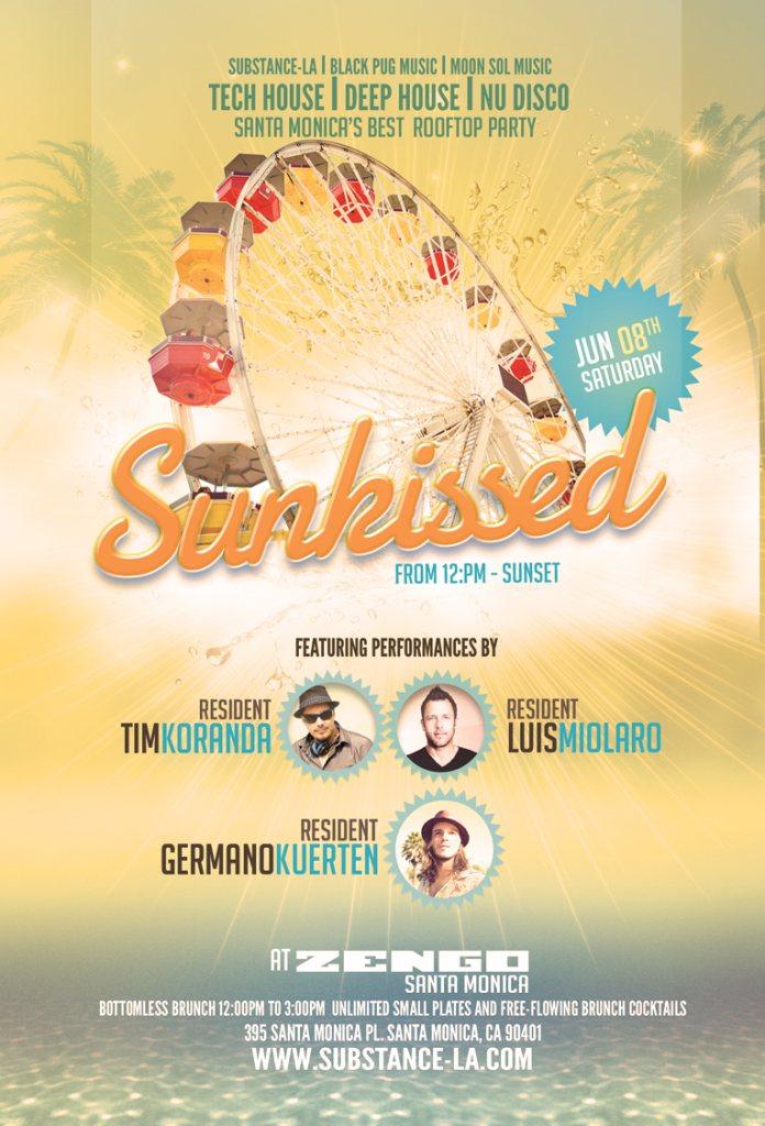 Sunkissed Santa Monica Feat. Tim Koranda, Luis Miolaro & Germano Kuerten - Flyer front