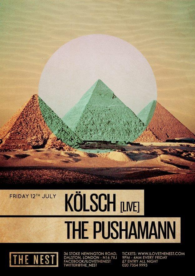 Kolsch (Live) x The Pushamann - Flyer front