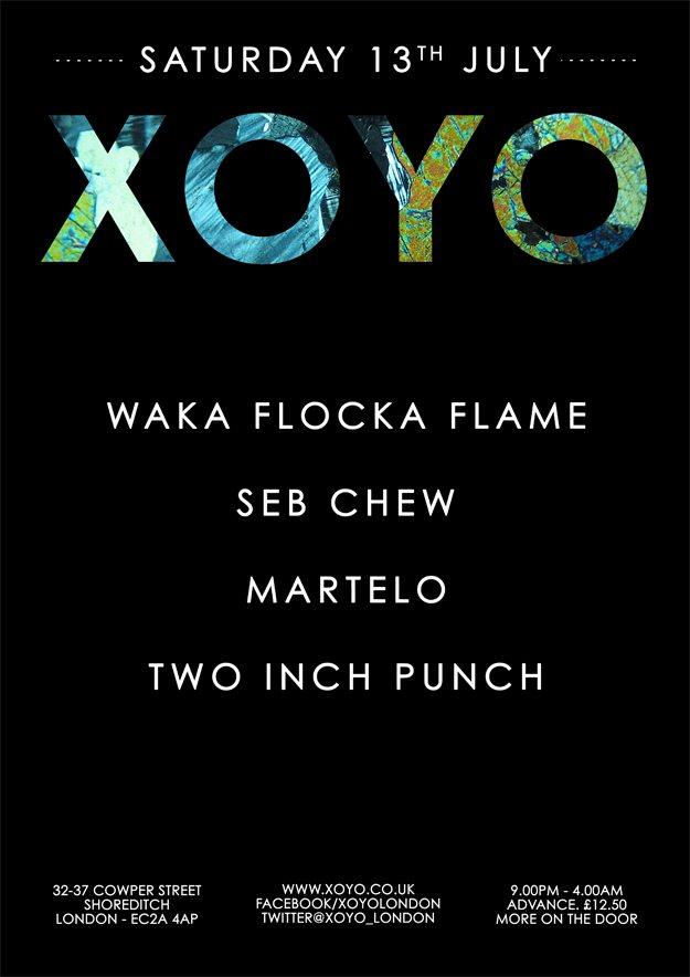 Waka Flocka Flame x Seb Chew x Martelo x Two Inch Punch - Flyer front