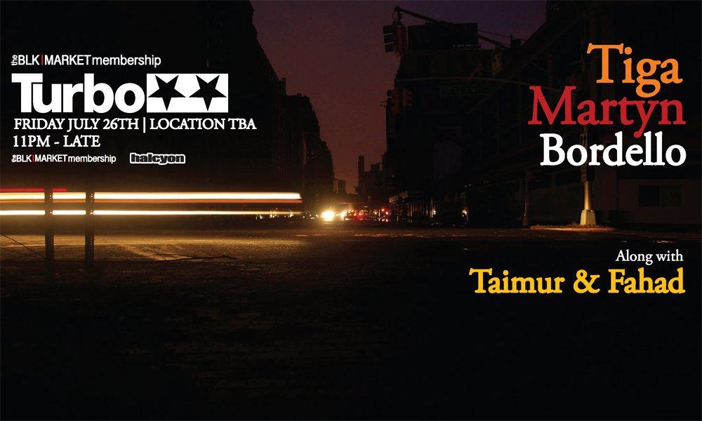 Blkmarket Membersip presents Turbo Recording Showcase with Tiga & Martyn - Flyer back