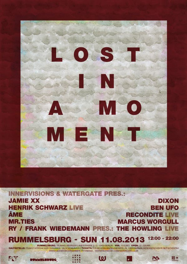 Innervisions & Watergate Pres. 'Lost In A Moment' Open Air - Flyer front