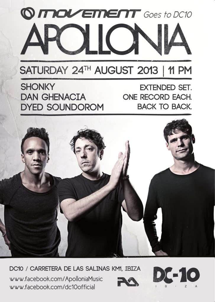 Apollonia All Night - Flyer front