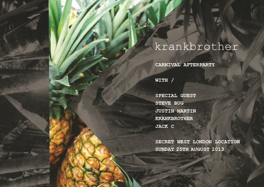 Krankbrother Carnival Afterparty with Steve Bug, Justin Martin & Heidi - Flyer front