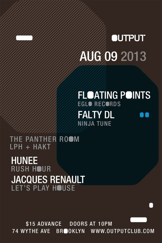 Floating Points and Falty DL with Hunee and Jacques Renault - Flyer front