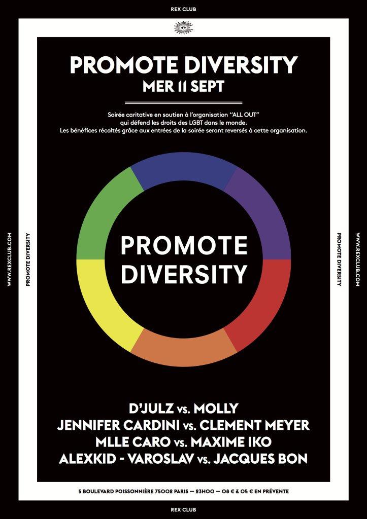 Promote Diversity: - Flyer front