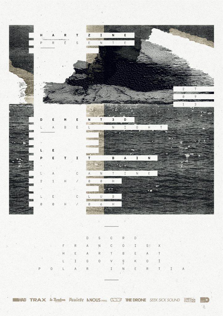 Dement3d Label Night - w/ Polar Inertia, Dscrd, Francois X - Flyer front