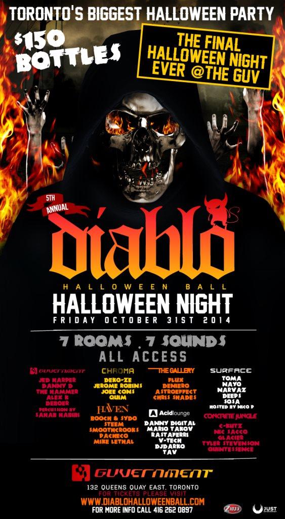 Diablo Halloween Party - Flyer front