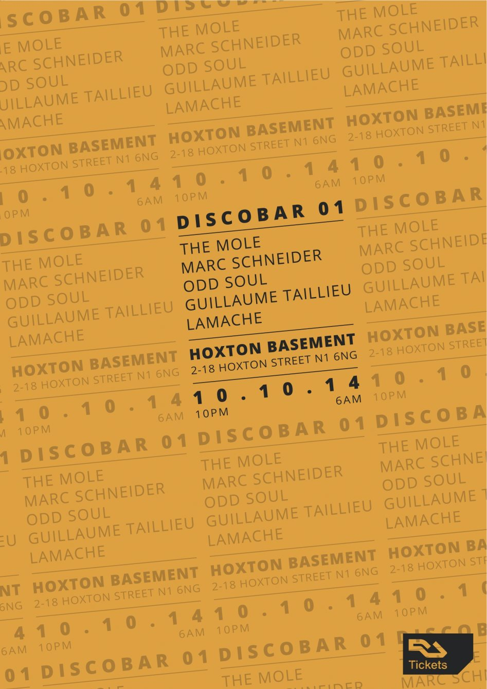Discobar Release Party presents: The Mole, Marc Schneider, Odd Soul - Flyer front