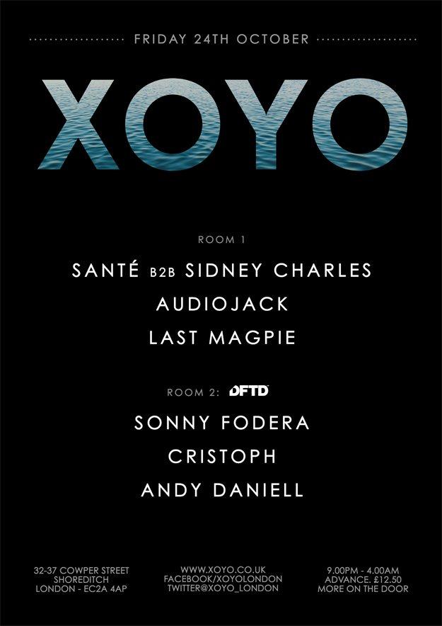 Santé B2B Sidney Charles + Audiojack + Room 2: Sonny Fodera + Cristoph + Andy Daniell - Flyer front