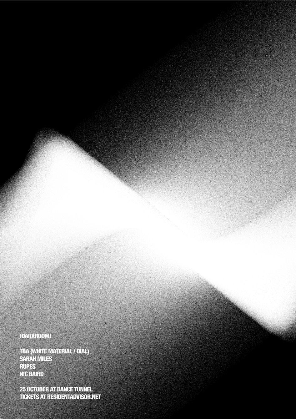 Darkroom with DJ Richard & Sarah Miles - Flyer front