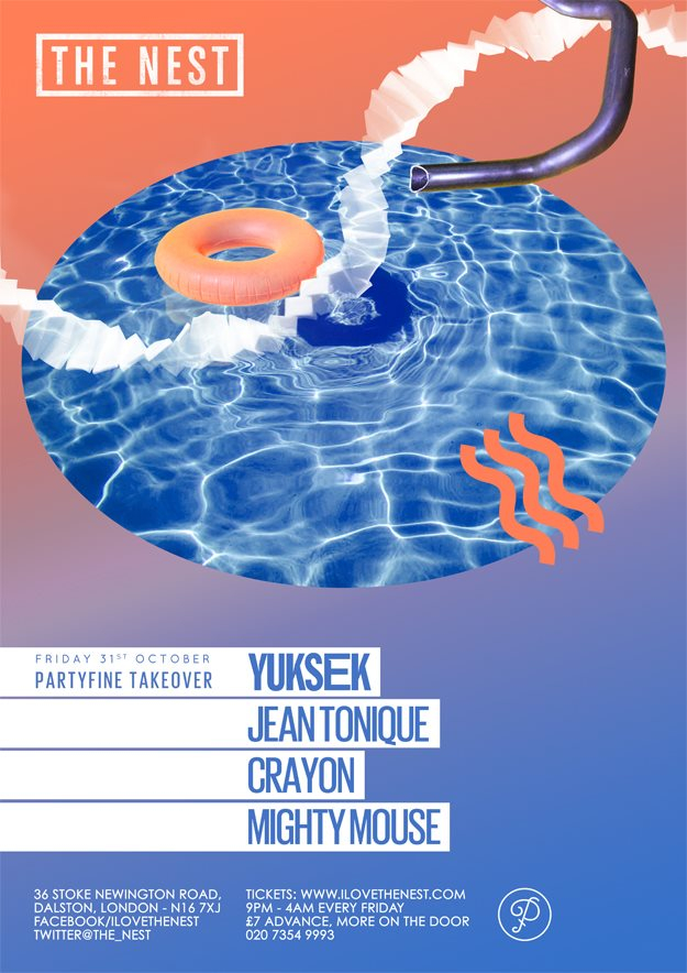 Halloween Party with Yuksek + Jean Tonique + Crayon + Mighty Mouse - Flyer front