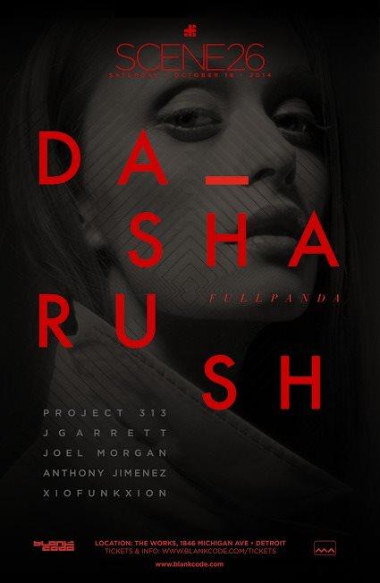 Scene 26 with Dasha Rush - Flyer back