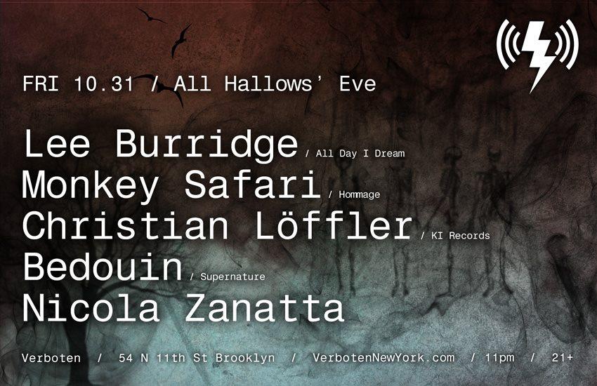 Halloween [All Hallows' Eve]: Lee Burridge / Monkey Safari / Christian Löffler / Bedouin - Flyer front