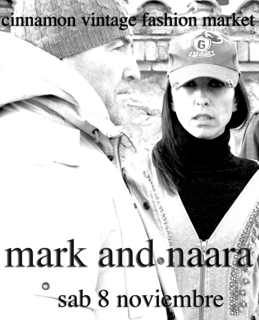 Mark and Naara Getting all Deep on Your Asses Vintage Fashion Market - Flyer front