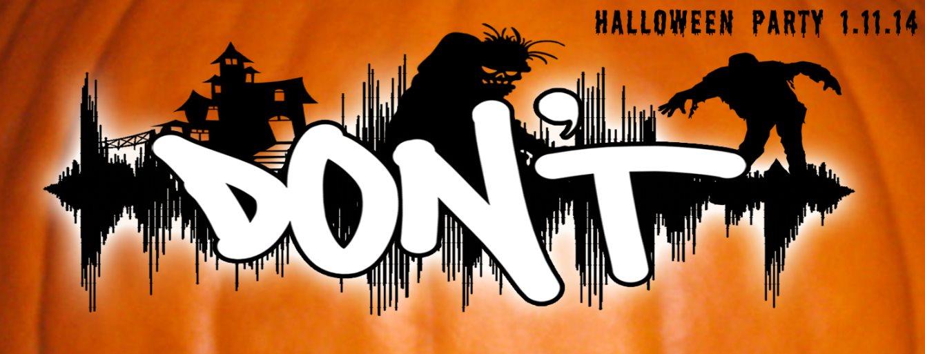 Don't: Halloween Slam with Paul Birken, Jerome Hill, Chris Moss Acid, Kirsti, Esther Ofei - Flyer front