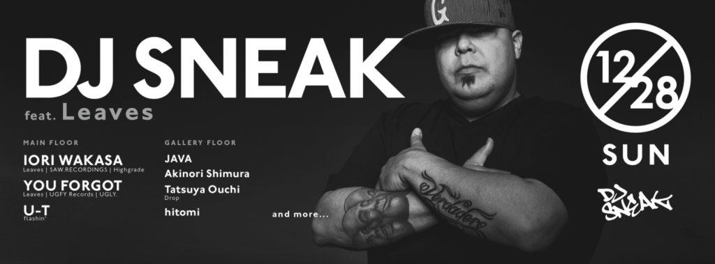 DJ Sneak Feat. Leaves - Flyer front