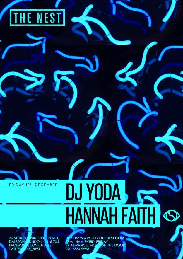DJ Yoda + Hannah Faith - Flyer front