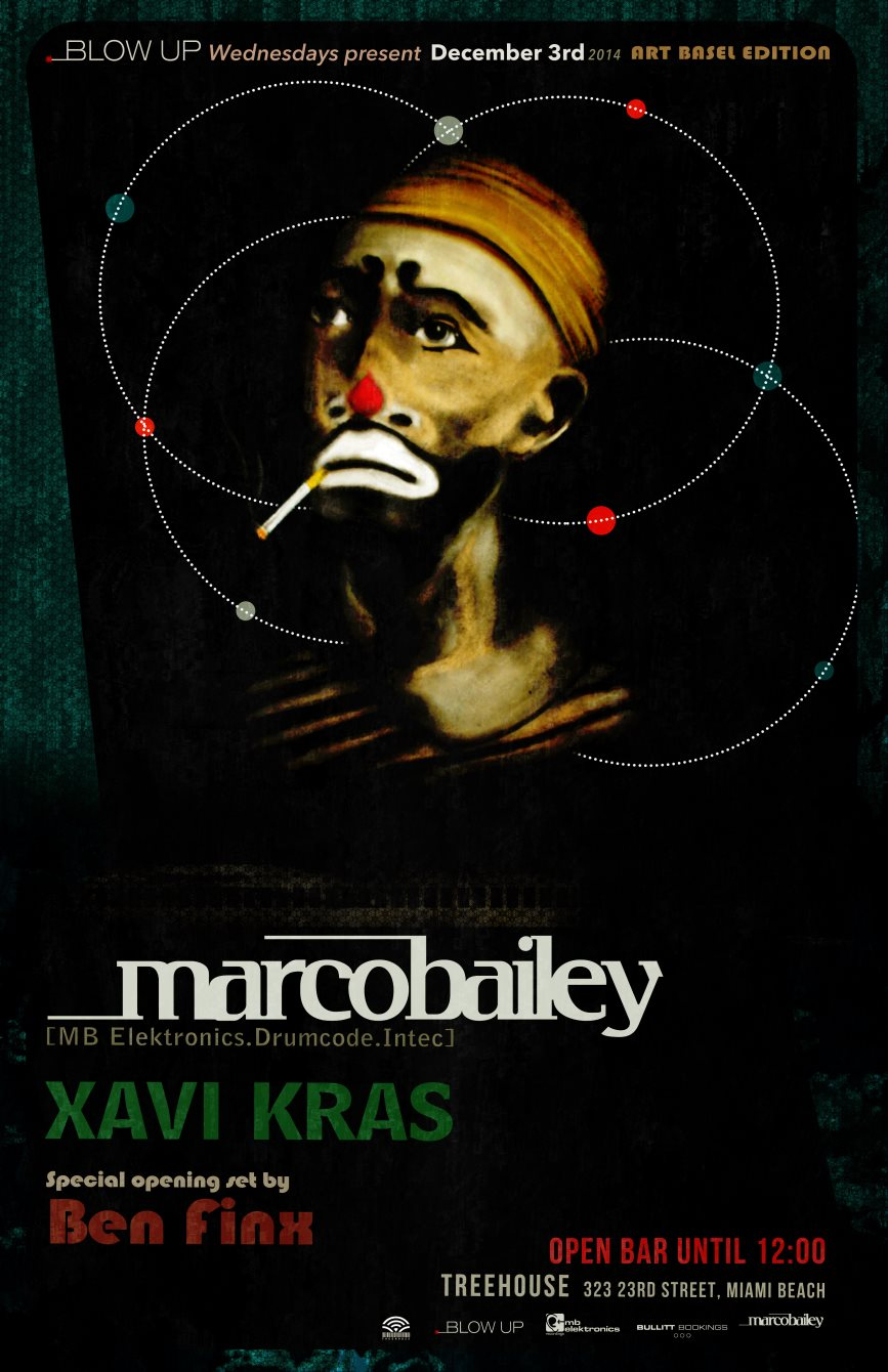 Marco Bailey presented by Blow UP ART Basel 2014 - Flyer front